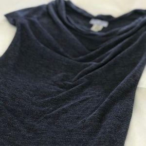 lola Short Sleeve Draped Cowl Neck Top. Size XS